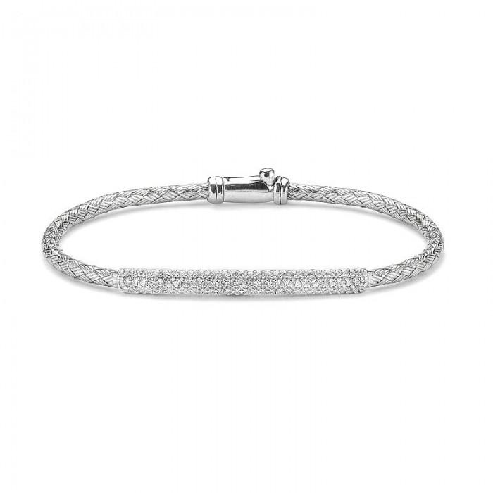 K3-168 Kelepçe Gümüş Bayan Bileklik
